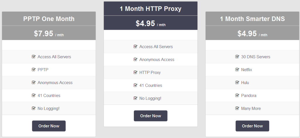 VPN Pricing lower prices - VPNSecure advanced plan