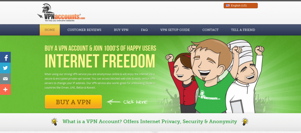 VPNAccounts Provider with Best VPN Service