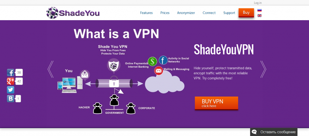 ShadeYouVPNcom Anonymous Secure VPN Unlimited Speed Bandwith