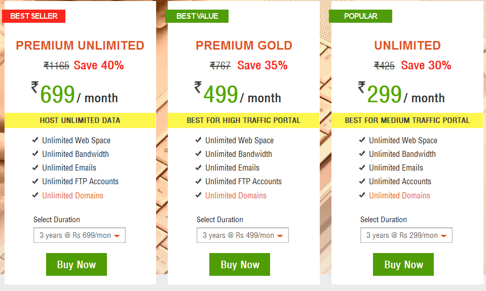 Best web hosting India I HostingRaja pricing list