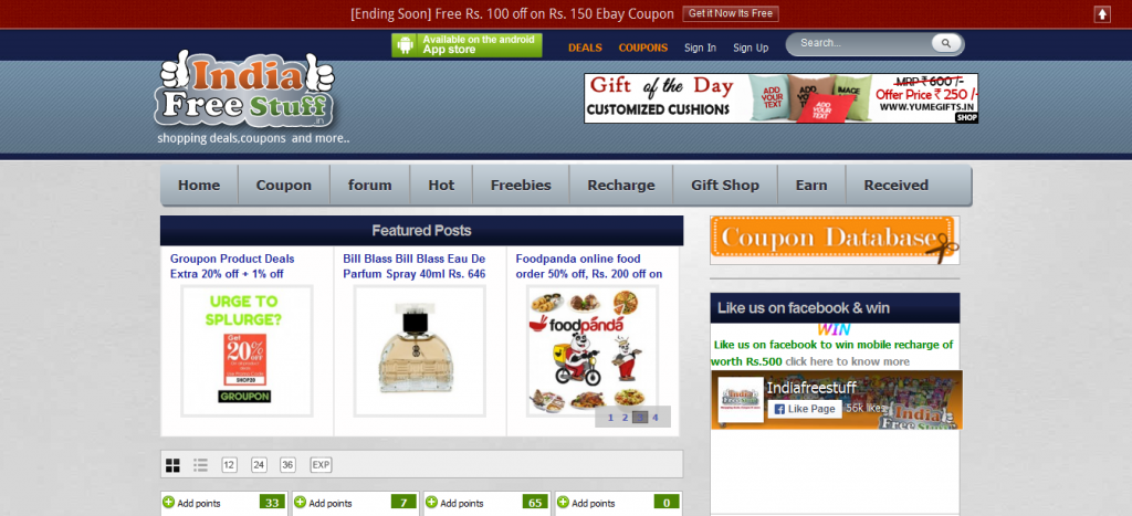 Indiafrestuff.in Online Shopping Discount Coupons Free Sample In India