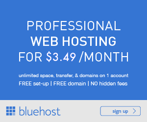 Unlimited Web Hosting from Bluehost for only $3.95!
