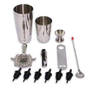 2dayShip Stainless Steel 13 Piece Professional Bar