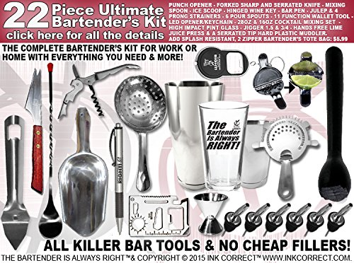 Bartender's Kit: 22 Piece Pro-Bartender Bar Set