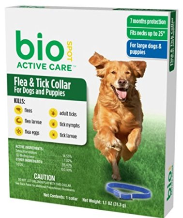 BioSpot Tick and Flea Active Care Collar