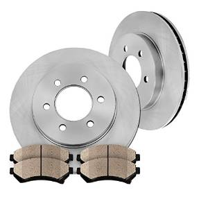 Callahan Premium Grade CFP40242B Front Rotors and Ceramic Brake Pads Kit