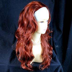 Copper Red Half Wig Hair Piece