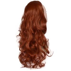 Copper Wavy Half Fall Wig Hair Extension