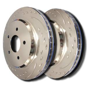 Dodge Charger Rear Diamond Slot Specific Model Brake Rotors