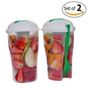 Fresh Salad Container Serving Cup Shaker