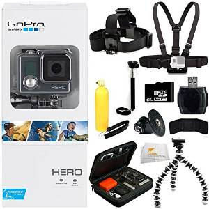 GoPro HERO 32GB Action Camera, Accessory Kit11PC