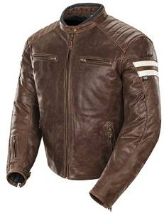 Joe Rocket Mens Classic '92 Leather Motorcycle Jacket
