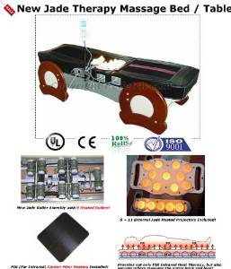 Massage Table Infrared Jade Heat Therapy