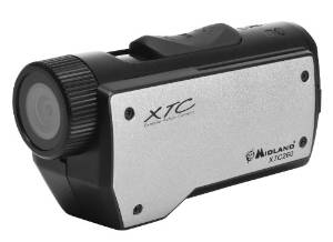 Midland XTC260VP3 720p High Definition Action Camera Wearable with two Mounts