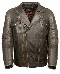 Milwaukee Men's Utility Pocket Motorcycle Leather