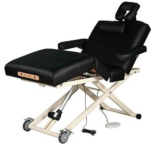 Sierra Comfort Adjustable 4-Section Electric Lift Black Massage Table
