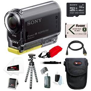 Sony POV HDRAS20-B Action Cam 1080 60p, Wi-Fi with NFC Sony C10 with HD