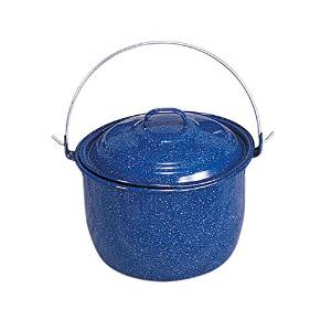Stansport Straight Pot Steel Enamel 6.25 Quart Royal Blue