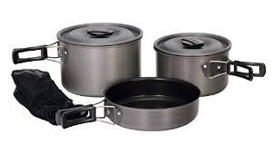 Texsport Hard Anodized the Scouter Black Ice Cook Set