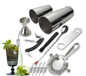 Tiger Chef Stainless Steel 14-piece Bar Set