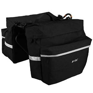 BV Bicycle Panniers with Carrying Handle and Adjustable Hooks