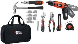 Black & Decker Lithium-Ion Screwdriver and Project Kit