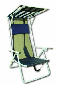 Bravo Sports High Back Beach Chair and Shade Top by Quik Shade