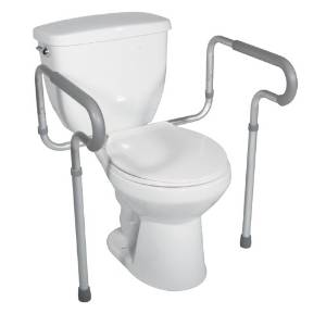 Drive Medical Safety Frame of Toilet, White