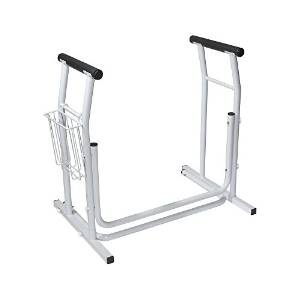 Drive Medical Stand Alone Safety Rails of Toilet, White