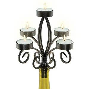 Epic Products Scroll Wine Bottle Candelabra