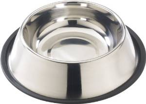 Ethical 18-Ounce No-Tip Stainless Dish