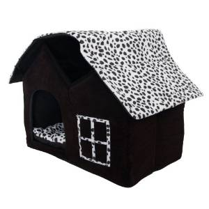 Luxury High-end Double Pet House/brown Dog Room Cat Bed