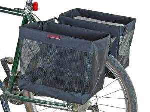 Pair of Bicycle Grocery Pannier Cycling Rack Basket by Bushwhacker