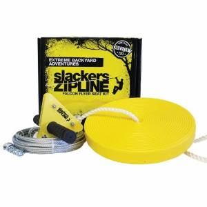 Slackers 40′ Zipline Falcon Series Kit with Seat