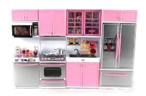 Doll Playsets Deluxe Modern Kitchen