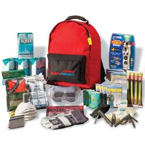 Ready America 70385 4-Person Deluxe Emergency Kit Backpack