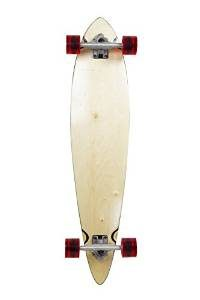 SCSK8 Natural Assembled Blank and Stained Complete Longboard