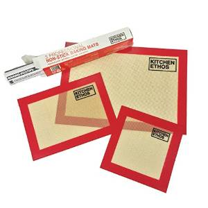 Silicone Baking Mat Set of 3 by Kitchen Ethos