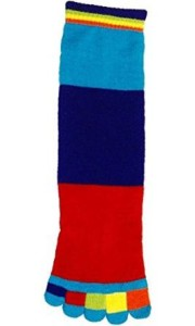 Foot Traffic Rainbow Stripe Toe Socks