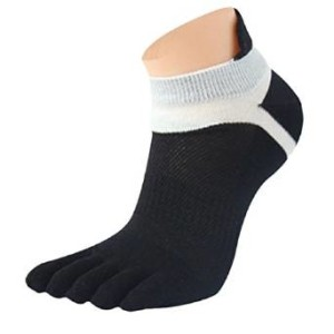Lookatool MenMesh Meias Sport Running Five Finger Toe Sock