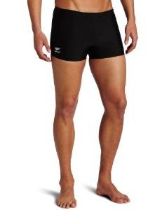 Men's Speedo Solid Polyester Leg Swimsuit