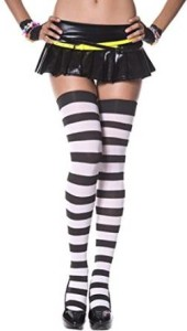Wide Stripes Sky Hosiery Stockings