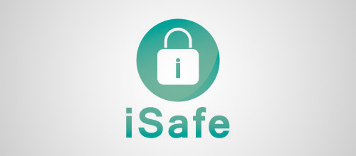 safe padlock logo design