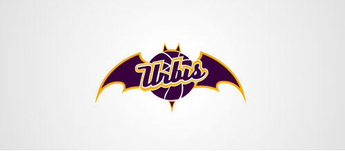 basketball logo design bat