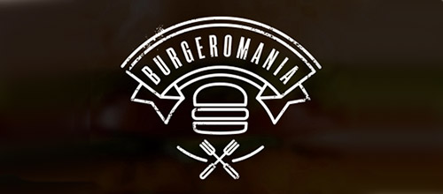 burgermania logo design