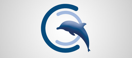 cross culture transitions dolphin logo design