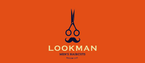 lookman scissors logo design