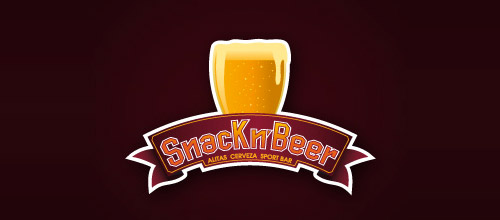 snack beer logo designs