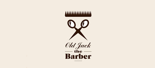 barber scissors logo design