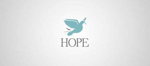 hope dove logo design